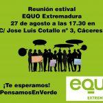 reunión estival 27 agosto Cáceres