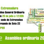 Asamblea en Cáceres 20 de julio 2019