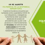 Día Mundial de la Asistencia Humanitaria en plena pandemia COVID-19