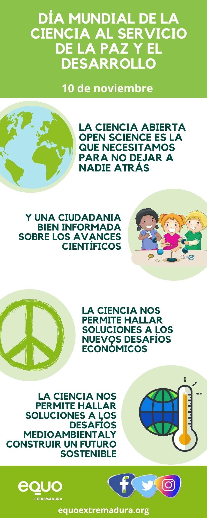 Una reflexión en el Día Mundial de la Ciencia al servicio de la Paz y el Desarrollo