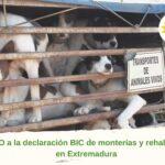Decimos NO a la inclusión de Monterías y rehalas como Bien de Interés Cultural en Extremadura